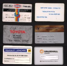 Collection obsolete petrol gas credit points cards rare #003